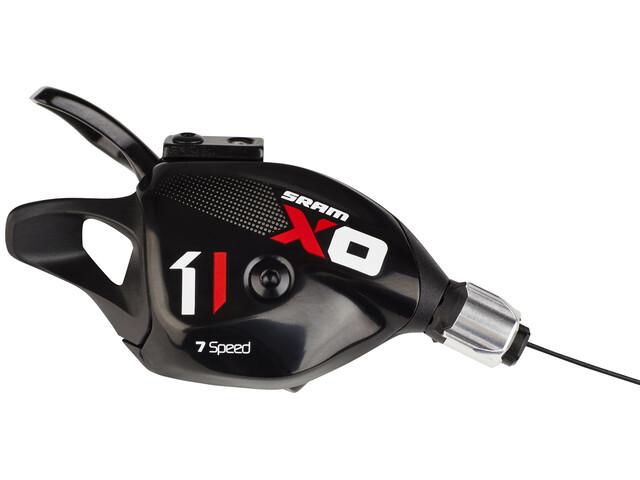 SRAM X01 DH Schalthebel 7-fach hinten/rechts schwarz/rot
